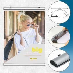 """Aluminijast """"snap"""" profil na gumo - 25 mm"""