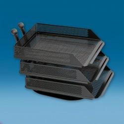 Namizni kovinski predalnik - črn