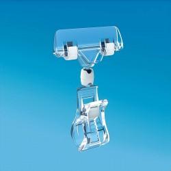 Plastična prozorna ščipalka s ščipalko za prikaz cen 56 mm - 105 mm