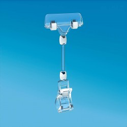 Plastična prozorna ščipalka s ščipalko za prikaz cen 56 mm - 161 mm