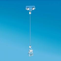 Plastična prozorna ščipalka s ščipalko za prikaz cen 56 mm - 311 mm