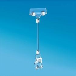 Plastična prozorna ščipalka s ščipalko za prikaz cen 56 mm - 211 mm