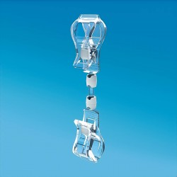 Plastična prozorna dvojna ščipalka - 150 mm