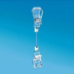 Plastična prozorna dvojna ščipalka - 185 mm
