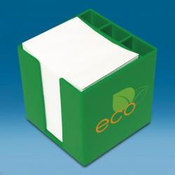 škatlica za listke z dodatnimi predalčki - 100 x 100 x 100 mm
