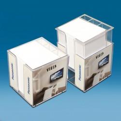 Dvojna škatlica za listke z dodatnimi predalčki - 100 x 100 x 100 mm