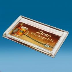 Steklen oglat gotovinski pladenj - 220 x 140 x 18 mm