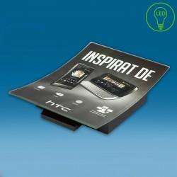 LED oglat gotovinski pladenj s tiskom CMYK - 210 x 150 x 30 mm