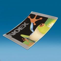 Stekleni oglat gotovinski pladenj s tiskom CMYK - 150 x 210 x 22 mm