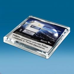 Stekleni oglat gotovinski pladenj s tiskom CMYK - 150 x 150 x 20 mm