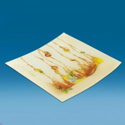 Steklen oglat gotovinski pladenj s tiskom CMYK - 150 x 150 x 22 mm