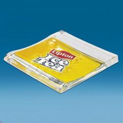 Steklen oglat gotovinski pladenj s tiskom CMYK - 174 x 173 x 18 mm