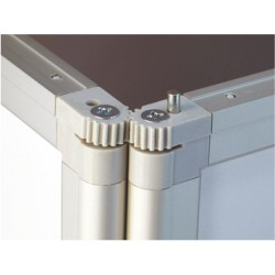 Zložljiv ovalen promocijski dvojni pult -  846 x 476 mm
