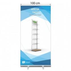 Roll-up stojalo - standard tweet - 1000 x 2000 mm
