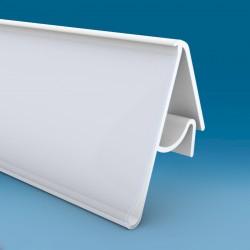 Censka letvica - za žične ograje - bela - ekstrudirana - V28 D1000 Ø6