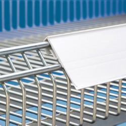 Censka letvica za žične ograje - 54 x 1000 mm - bela - ekstrudirana