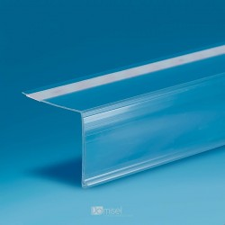 Censka letvica - 90° - ekstrudirana - prozorno lepilo, znotraj - D1000 V32 G30