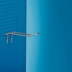 Kovinska dvojna za perforacijo kljukica za censki žepek - 150 - nikljana