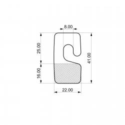 Odprti samolepilni obešalnik za izdelke - V41 D22