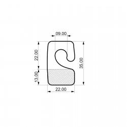 Odprti samolepilni obešalnik za izdelke - V35 D22