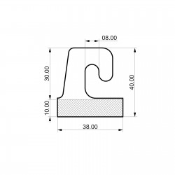 Odprti samolepilni obešalnik za izdelke - V40 D38