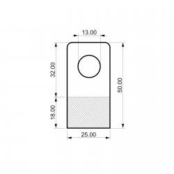 Zaprti samolepilen obešalnik za izdelke - V50 D25