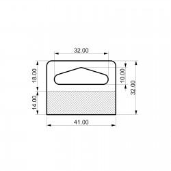Zaprti samolepilni obešalnik za izdelke - D41 V32
