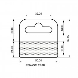 Zaprti penast samolepilni obešalnik za izdelke - V50 D50