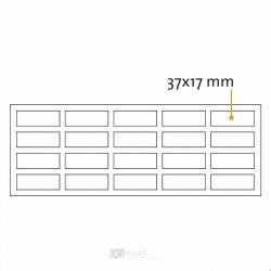 Kvadratne samolepilne penaste blazinice - 37 x 17 mm