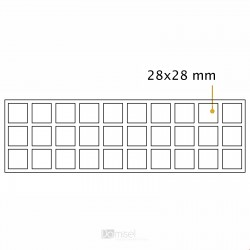 Kvadratne samolepilne penaste blazinice - 28 x 28 mm