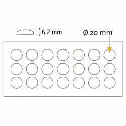 Protizdrsne samolepilne blazinice - 20 x 6,2 mm
