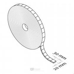 Ježek pravokotni trak v roli - 20 x 30 mm