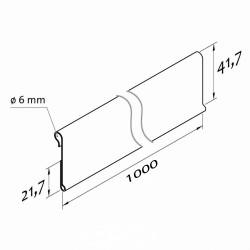 Censka letvica - za kljukice in ograje - D1000 V30 Ø6