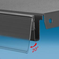 Censka letvica - 20° - za police - prozorna - ekstrudirana - D1000 V60