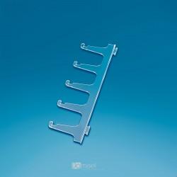 Plastične enojne za zatikanje prozorne kljukice za očala - 5 parov