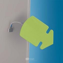 Kovinski gibljiv označevalec polic - 75 mm