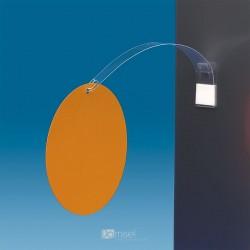 Gibljiv označevalec polic s kljukico - 200 mm