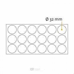 Okrogle samolepilne penaste blazinice - Ø 32 mm
