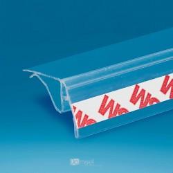 Gibljiv nosilec - prozorno lepilo - za steklene police in censke letvice - D1330 G24