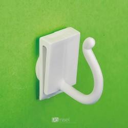 Plastična enojna samolepilna bela kljukica za kupone/cene