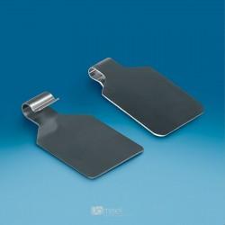 Gibljiv kovinski žepek za dvojne kljukice