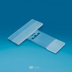 Plastična cenovka za kljukice - 110 x 40 mm