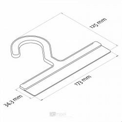 Plastičen obešalnik za izdelke - 173 mm