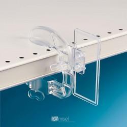 Plastična objemka z dvema luknjama