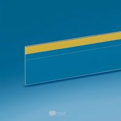 Censka letvica - ravna, krajša spredaj - prozorno lepilo, zgoraj - D1000 V50