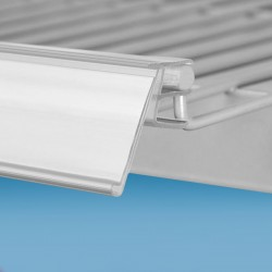 Censka letvica - za žične ograje - bela - ekstrudirana - D1000 V28mm Ø6