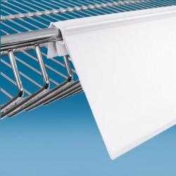 Censka letvica - za žične ograje - bela - ekstrudirana - V73 D1000 Ø7,5