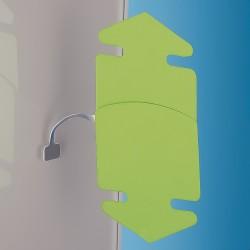 Trimestni samolepilni Kovinski gibljiv označevalec polic - 75 mm