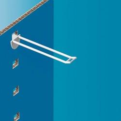 Plastična dvojna za zatikanje kljukica z nosilcem za ceno