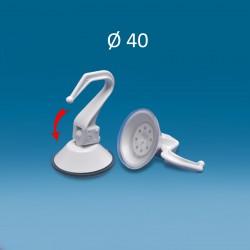 Bel vakuumski prisesek Ø 40, s plastičnim kavljem